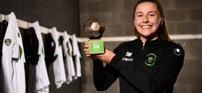 Ryan-Doyle collects SSE Airtricity WNL Player of the Month award for May